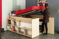 Space Up Bed with Storage from Parisot | Design
