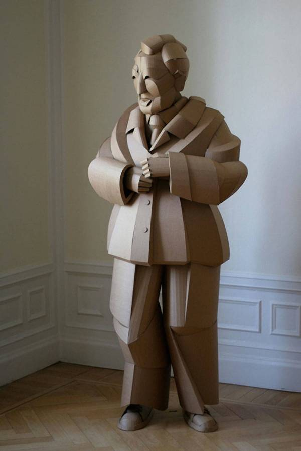 Cardboard Sculpture Figure