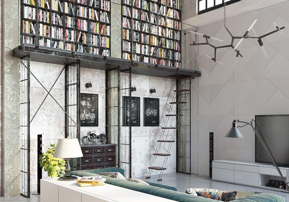 Industrial Loft by Golovach Tatiana  Andrey Kot  Design