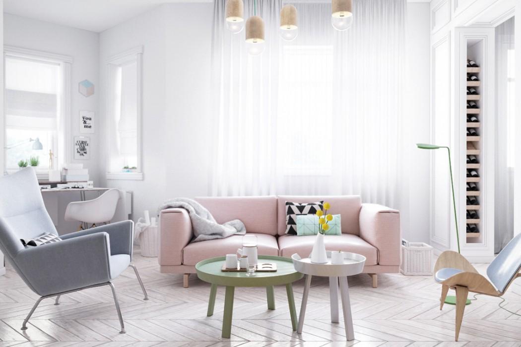 Scandinavian Style Interior by Pavel Pisanko  Design