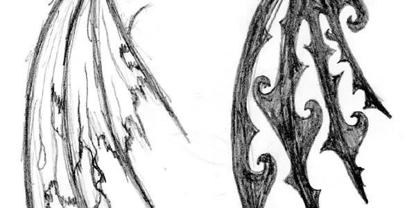 Broken Angel Wings Tattoo Designs