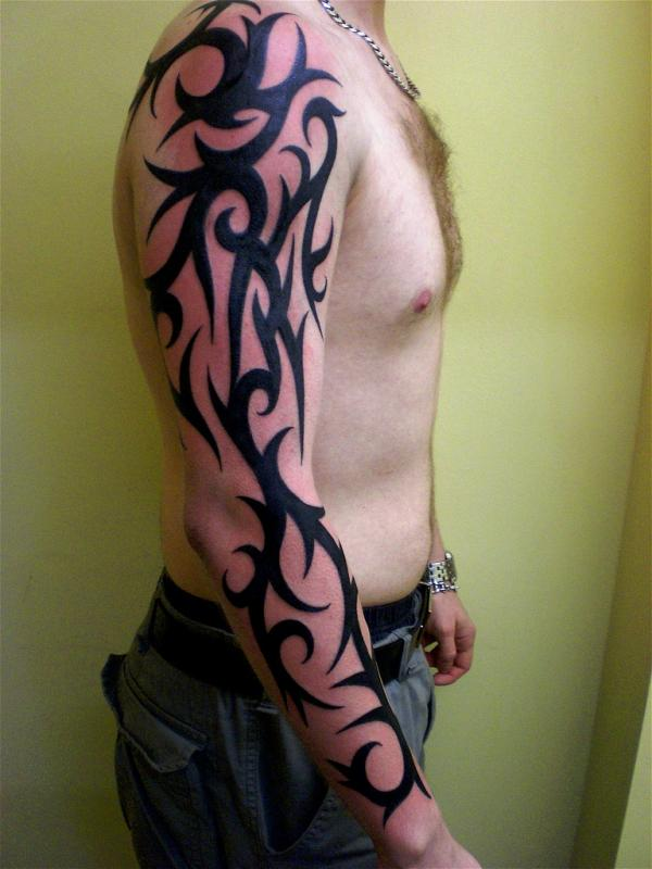 Half Sleeve Tribal Arm Tattoos