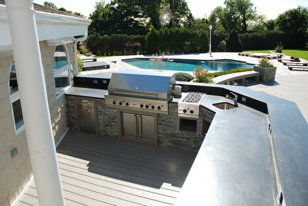 viking outdoor kitchen lights over island designs 40 fantastic examples slodive