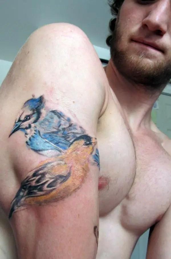 Flying Bird Tattoo For Men