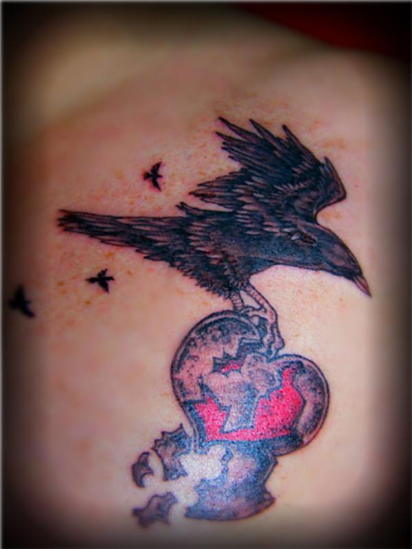 Shattered Heart Broken Heart Tattoo