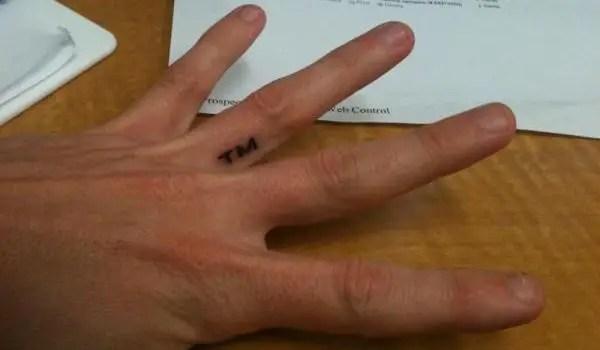 Side Of Hand Love Tattoo Designs