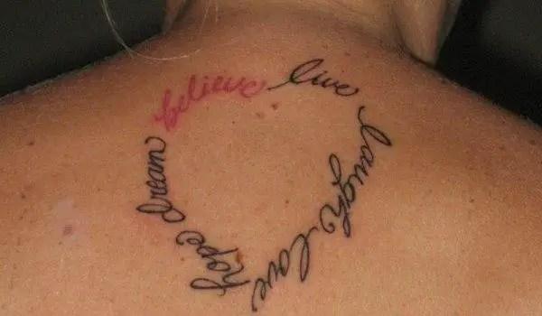 Live Laugh Love Tattoos On Shoulder