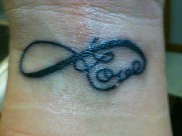 Infinity Tattoo On Wrist For Girls