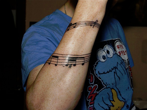 Music Note Tattoo For Men Arm