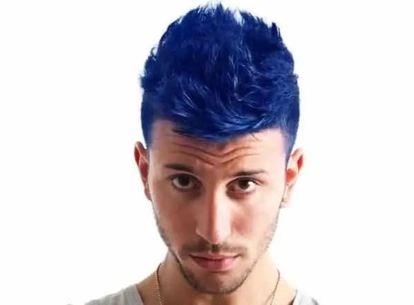 Bue Hair For Guys