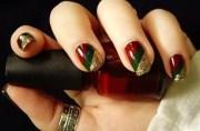 key maroon christmas nail