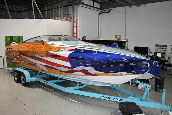 Custom Boat Wrap Designs Decals Lettering  Cost  Design Print Plus