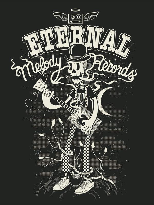 Eternal Melody records Brazilian Designer Inspiration