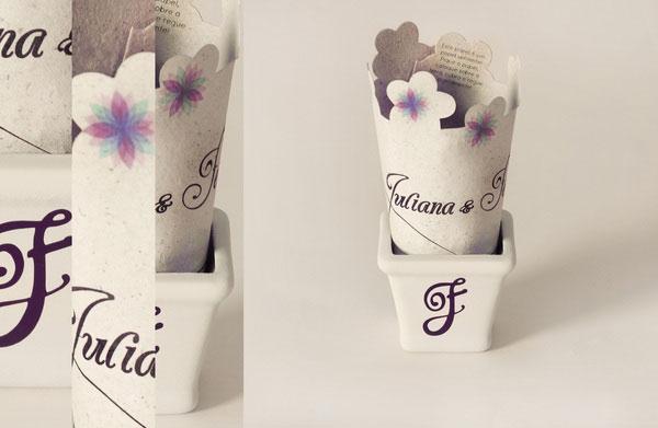 Spring Wedding Invitation - Seed Paper Brazilian Designer Inspiration