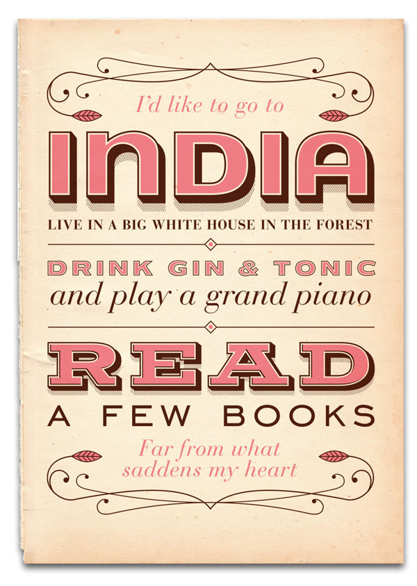 India Song Screenprint Print Design Inspiration