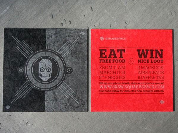 SXSW Squarespace Skull Cards Print Design Inspiration