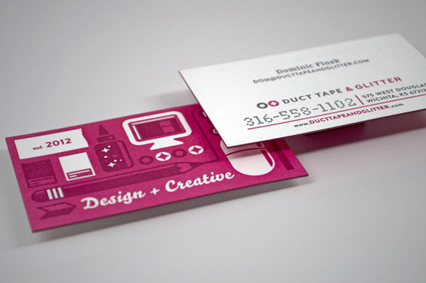 Duct Tape & Glitter Business Cards Print Design Inspiration