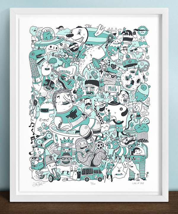 Life of Bob Poster Print Design Inspiration