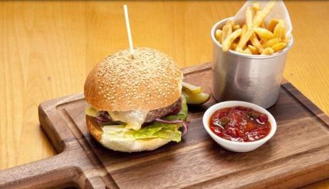 Burger at Sam's Brasserie