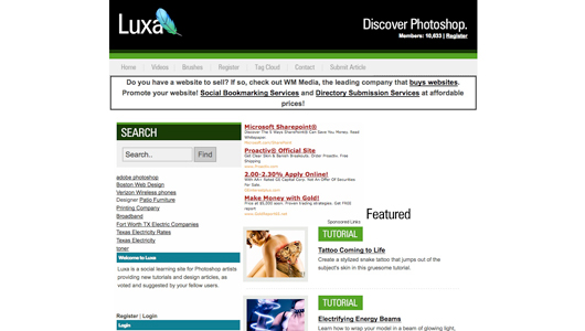 luxa screenshot