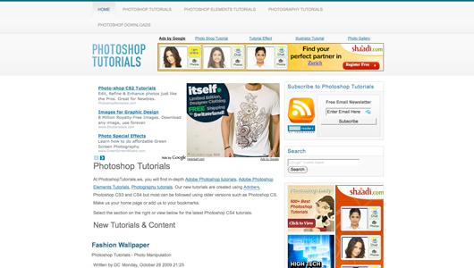 photoshop tutorials screenshot