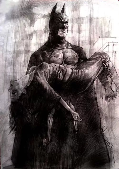 Batman classic scene by aaronwty