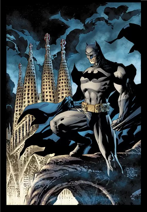 Batman over Barcelona by jimlee00