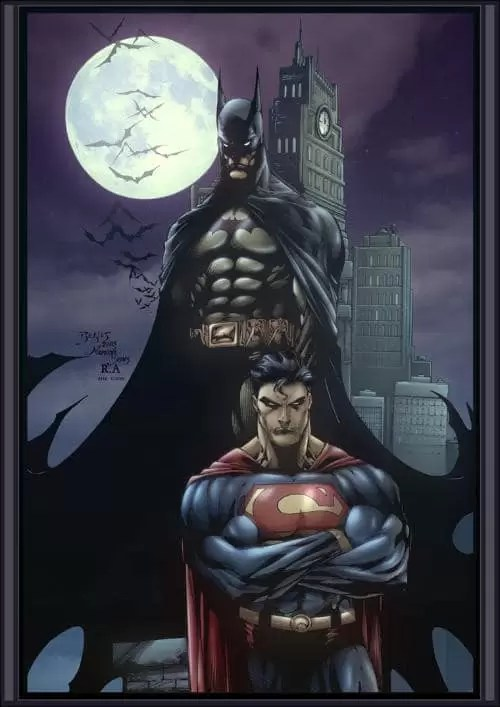 Superman and Batman by edbenes