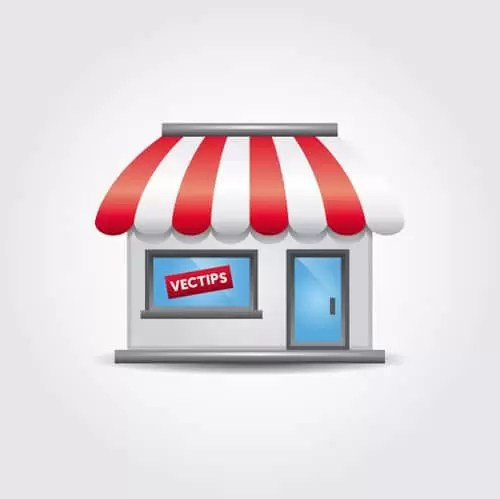 Create a Simple Storefront Icon in Illustrator | Vectips