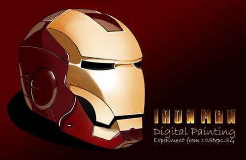 Paint an Iron Man's Helmet Digitally in Photoshop