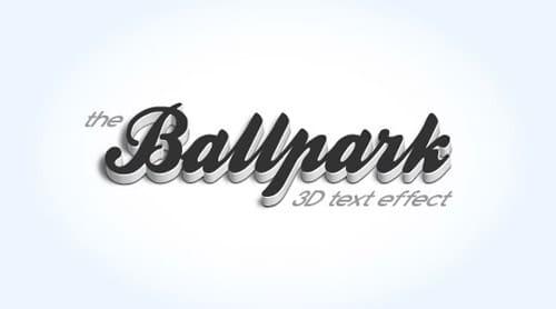 Modern 3D Text Effect