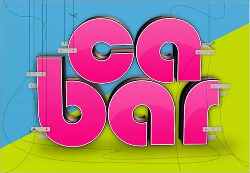 Create Glossy 3D Text using Xara 3D & Photoshop