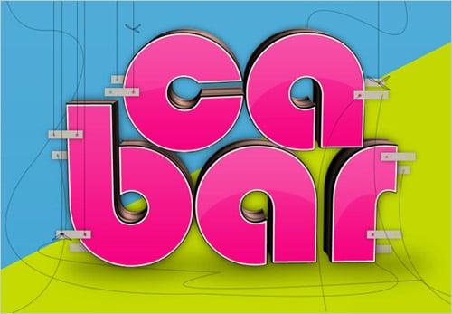 Create Glossy 3D Text using Xara 3D & Photoshop