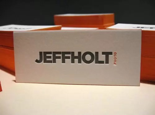 Jeff Holt Photography Business Card