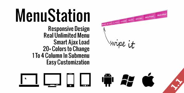 15 jQuery Plugins for Responsive Metro Style Navigation Menus