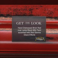 Get The Look: Brick Red and Lamp Black Milk Paint with Red ...