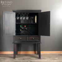 Lamp Black Bar Cabinet | General Finishes Design Center