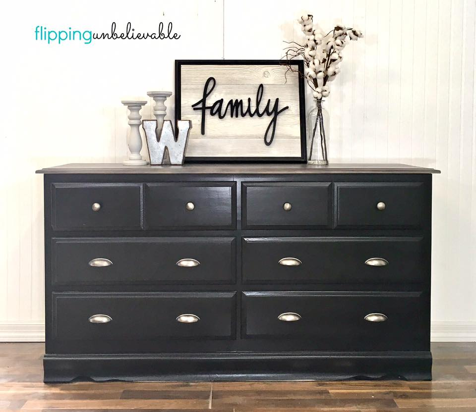 Dresser in Lamp Black Milk Paint  General Finishes Design