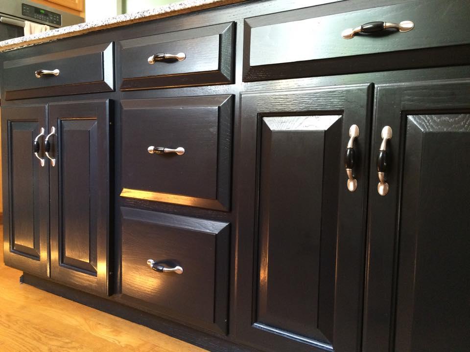 Bombay Mahogany Kitchen Cabinets With White Granite