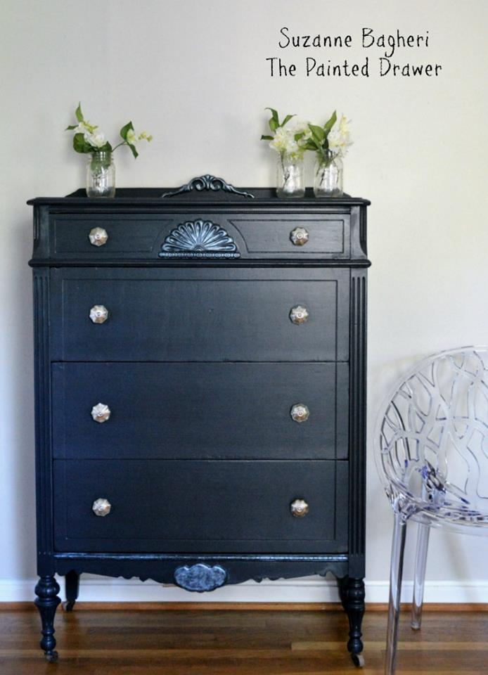 kitchen displays boys play set midnight blue chalk style paint dresser | general finishes ...
