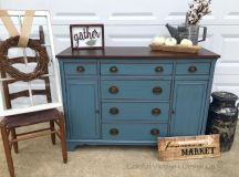 Buffet in Charleton Blue & Java | General Finishes Design ...