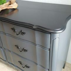 Kitchen Displays Ideas For Kitchens Dresser In Queenstown Gray & Black Pepper Color Mix ...