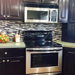 Kitchen Displays Stainless Undermount Sink Java Gel Stain Transformation | General Finishes ...