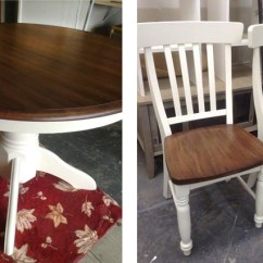Antique White Dining Chairs Swinging Egg Chair Table And Topped With A Brown Mahogany Java Gel Stain Mix | General Finishes Design ...