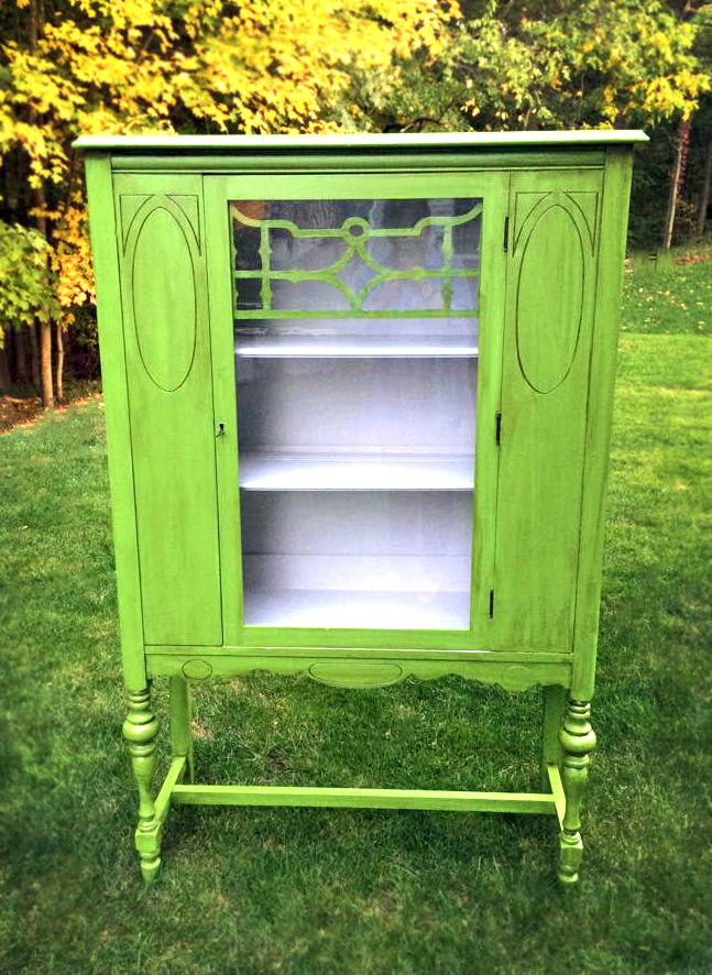 Lovely Lime Green China Cabinet  General Finishes Design