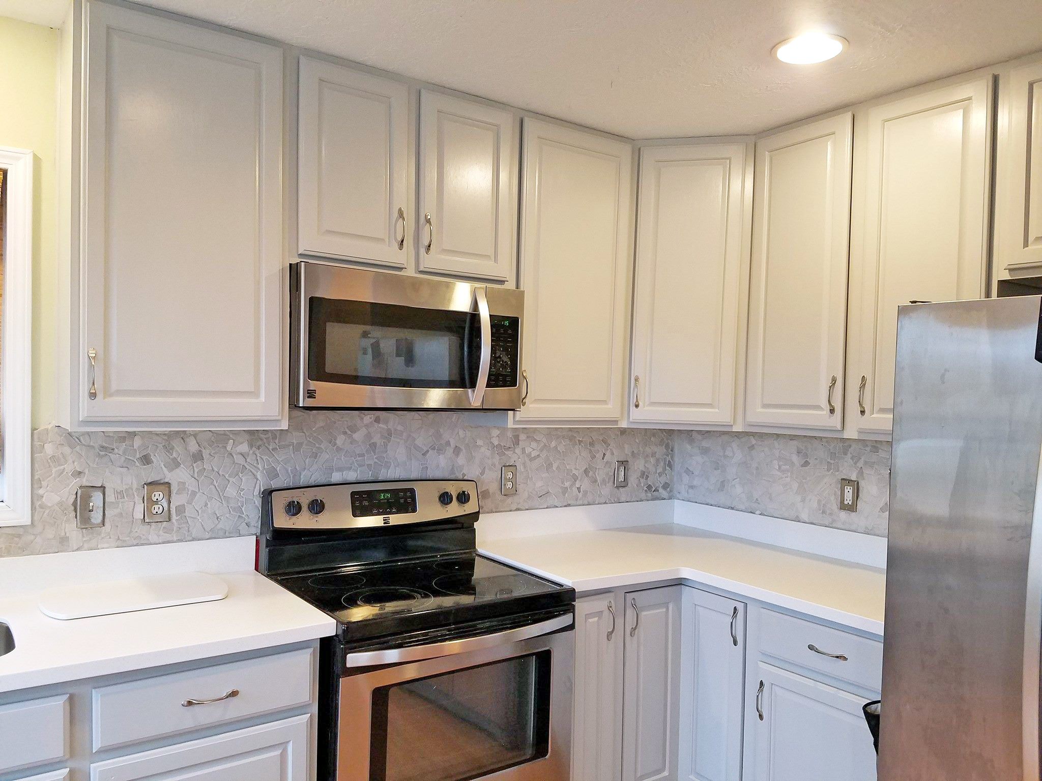 kitchen cabinet stain colors bay window curtains seagull gray makeover   general finishes ...