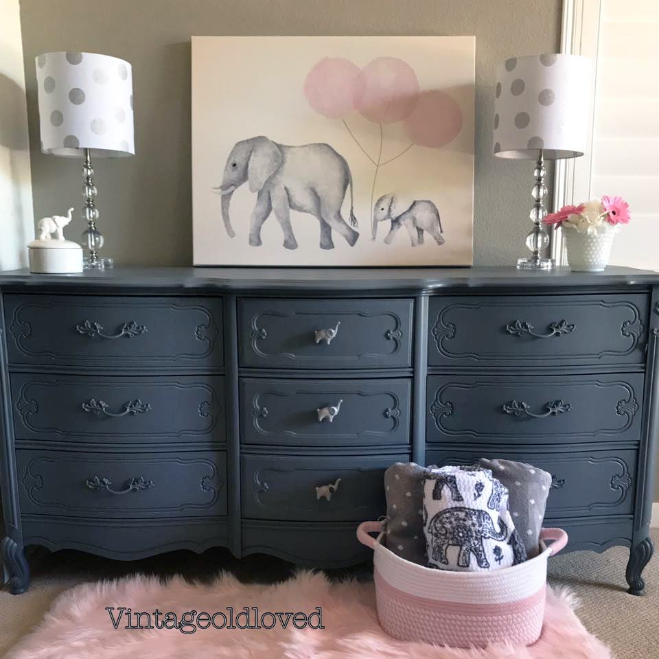 Queenstown Gray Elephant Dresser  General Finishes