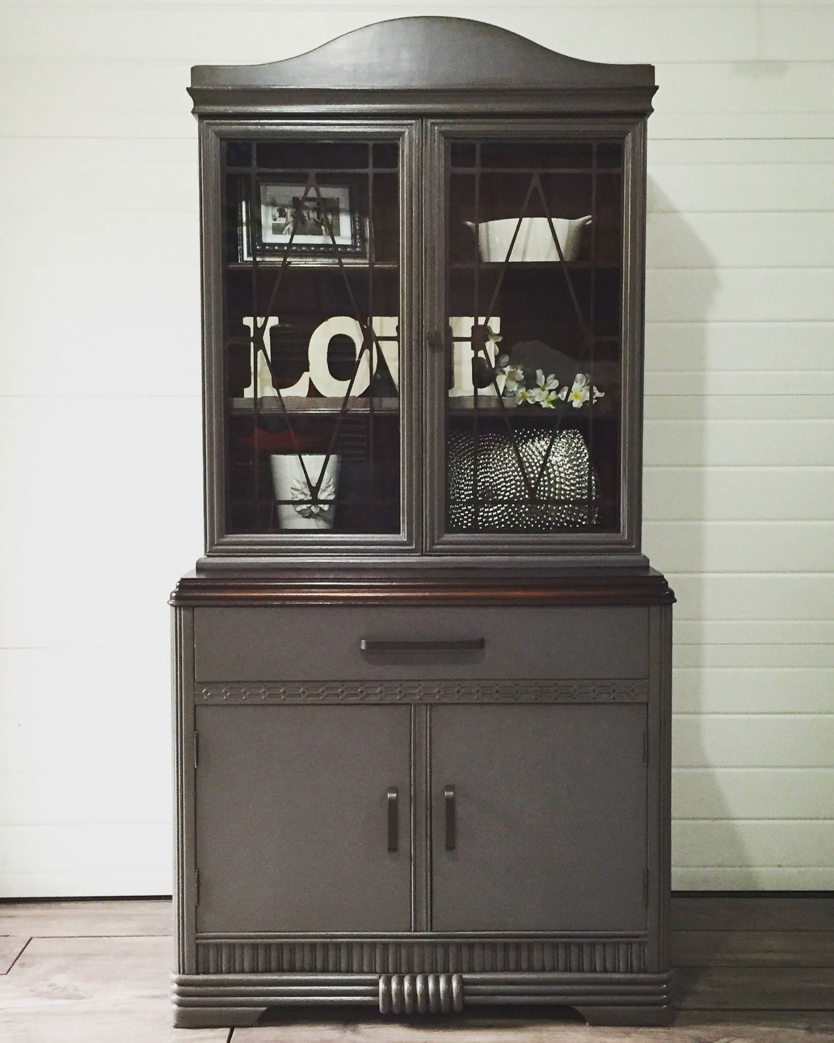 China Cabinet in Queenstown Gray  General Finishes Design