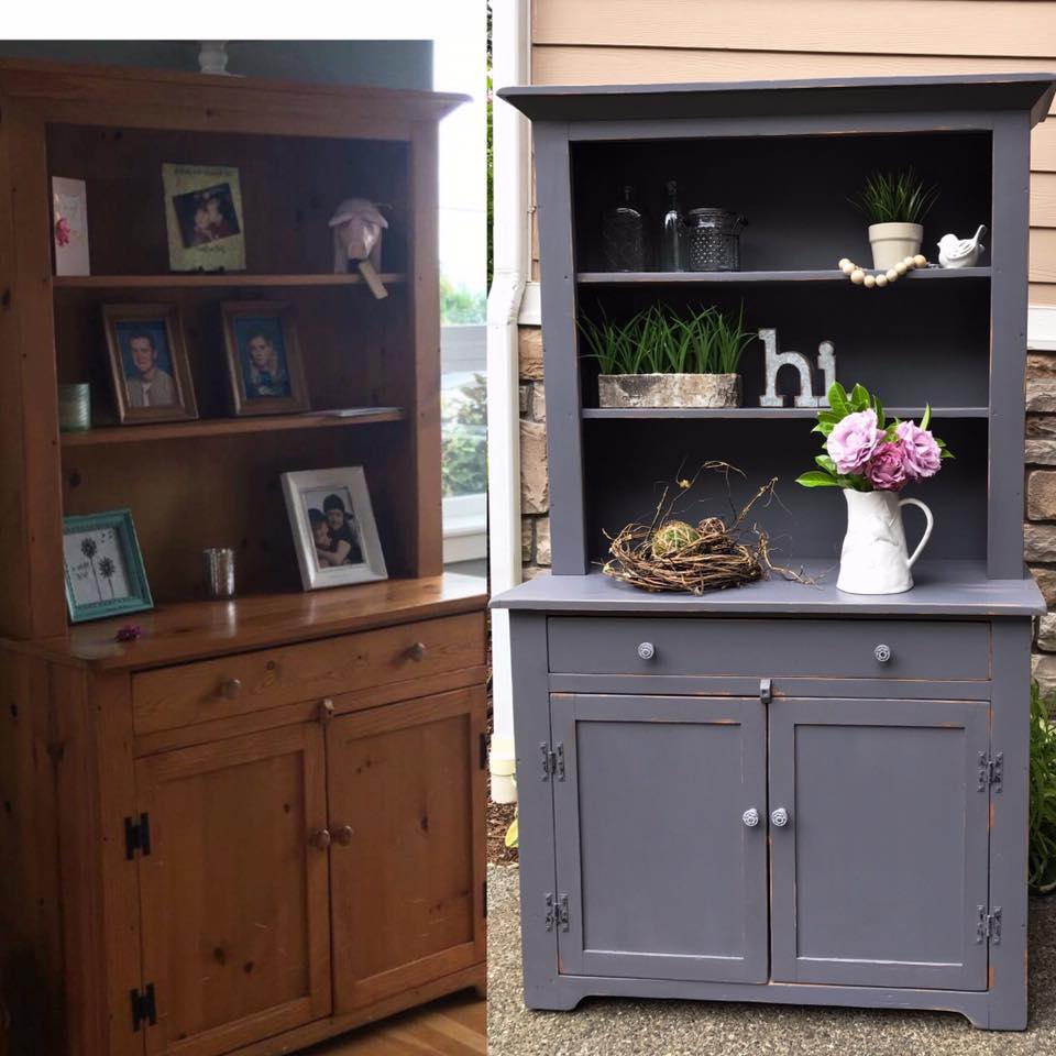 Pine Hutch In Driftwood Milk Paint General Finishes