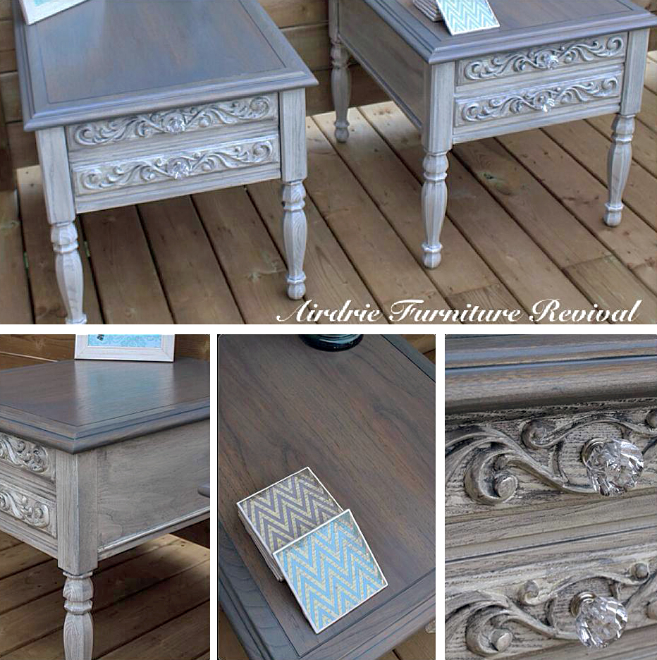 Stunning Side Table Restyle with Gray Gel Stain  General
